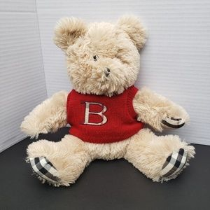 """Burberry Arnold Teddy Bear with Red """"B"""" Sweater"""